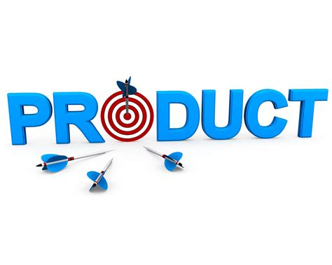Product Word With Target Dart And Arrow Showing Business
