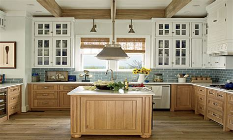 Ideas For Kitchen Islands In Small Kitchens - beach house kitchen cabinets ideas
