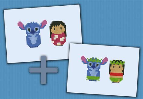 lilo stitch digital cross stitch pattern