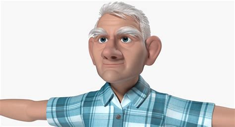 3d Model Tom Old Man Cartoon Animation
