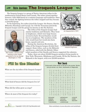 math workbooks for 2nd grade american tribes iroquois worksheet education