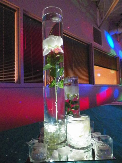 Quinceanera 2019 Turquoise And Silver Bling Centerpieces