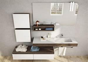 Meuble Salle De Bain Bois Et Blanc : meuble de salle de bain en bois avec vasque int gr e ~ Teatrodelosmanantiales.com Idées de Décoration