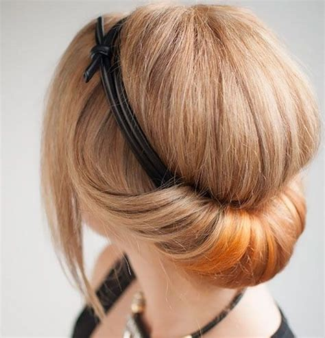 pretty updos  short hair clever tricks
