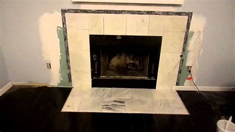 marble and tile around fireplace part 1