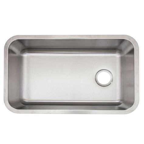 1 basin kitchen sink glacier bay undermount stainless steel 30 in single basin