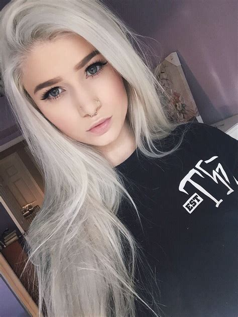 Hair Color White by 10 Awesome Silver Hair Colors Ideas Makeup Tutorials
