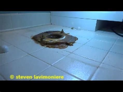 toilet water leaking  floor youtube