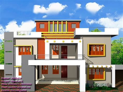 Exterior House Design Apps For by 13 Awesome Simple Exterior House Designs In Kerala Image