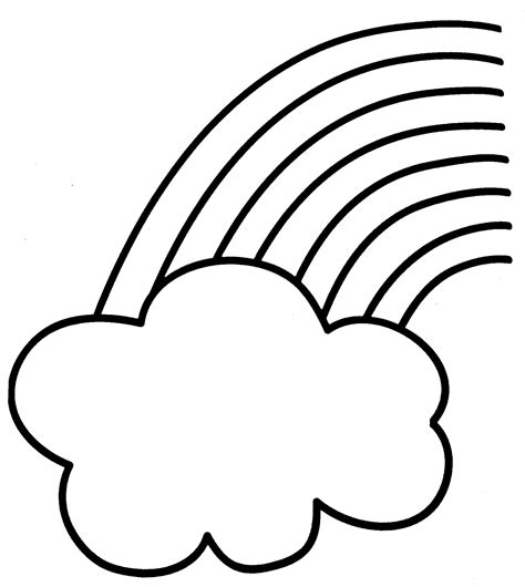 Coloring Pages Of Rainbows by Rainbow Coloring Pages For Childrens Printable For Free