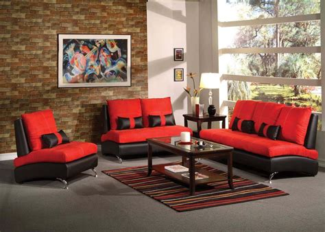 Red And Black Living Room Set : Red And Black Sofa Set Jonus Sofa And Loveseat Set Black
