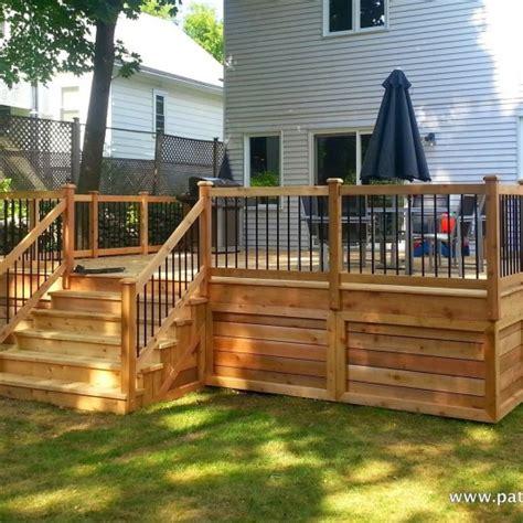 patio en bois terrasse en bois montr 233 al patios et