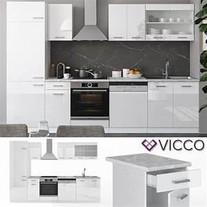 Küche 300 Cm : vicco k che r line 300 cm wei hochglanz arbeitsplatten ~ A.2002-acura-tl-radio.info Haus und Dekorationen