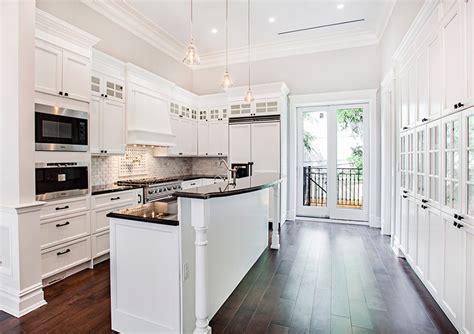 large granite floor tiles 27 beautiful white contemporary kitchen designs
