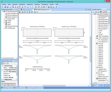 fundamentberechnung die statik software
