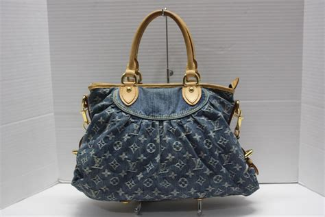 louis vuitton blue denim monogram denim neo cabby gm bag