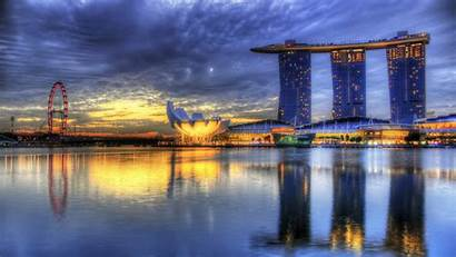 Singapore Bay Sunrise 4k Marina Hdr Wallpapers