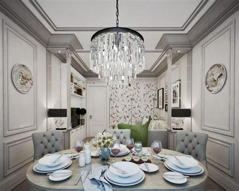 Gorgeous Neo-classical Apartment In Gray & Beige