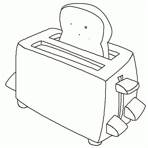 toaster clipart black and white a coloring breakfast free coloring to print