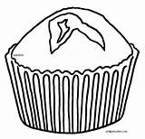 Muffin Coloring Clipart Blueberry Pages Template Print Massachusetts Clipartmag Comments sketch template
