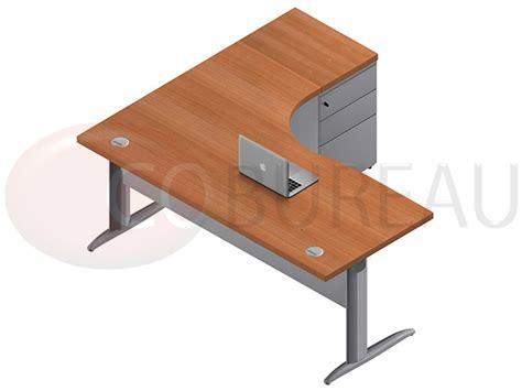 mobilier bureau pro bureau compact 180 cm pro métal avec caisson métallique