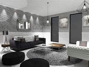 decoration noir et blanc 6 interieurs exclusifs ultra With decoration noir et blanc