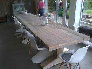 Tischdecke 3 Meter Lang : design tafel van steigerhout de tafel is bijna 5 meter lang en heeft 3 tafelpoten op instagram ~ Frokenaadalensverden.com Haus und Dekorationen