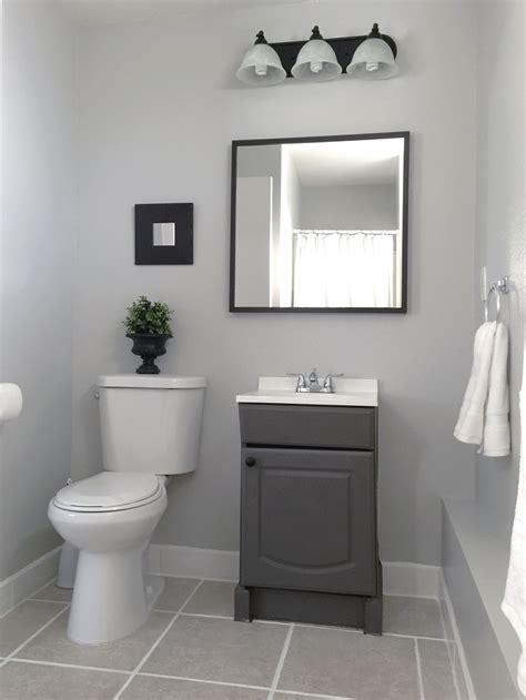 small garage bathroom painted vanity wall behr