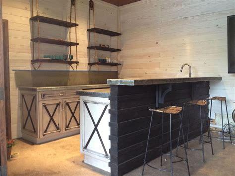 kitchen island overhang made custom made cabinets zinc countertops by kidd