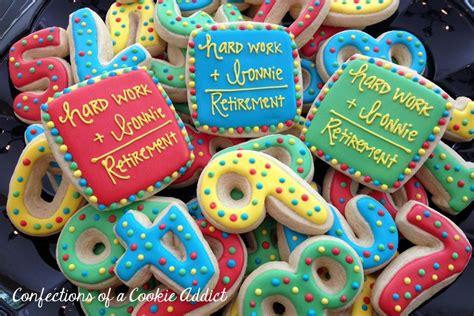 happy retirement retirement party cookies custom