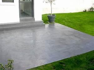 dalle beton decorative enduit de parement sur une dalle With peinture pour dalles exterieur