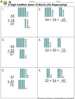 digit addition  base  blocks  regrouping