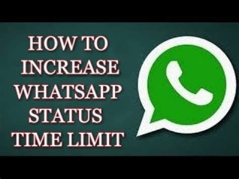 remove whatsapp status time limit without root