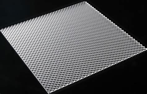 Acrylic Clear K12 Prismatic 1190x290x2.8mm Light Diffuser