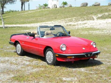 Buy Used 1989 Alfa Romeo Spider Graduate Convertible 2