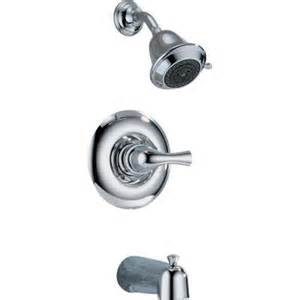 delta classic 1 handle tub and shower faucet in chrome