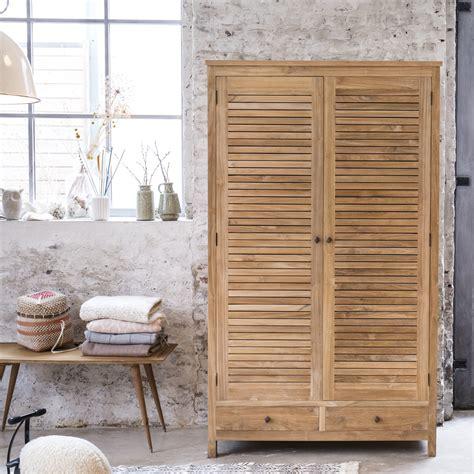 chambre en teck armoire en teck armoire en bois massif suzette tikamoon