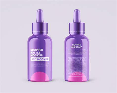 Dropper bottle brown glass psd mockup. Glossy dropper bottles mockup | Premium PSD File