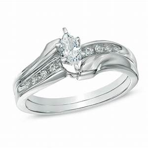 gorgeous marquise diamond bridal set half carat marquise With marquise wedding ring set