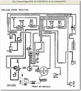 Where Can I Find A Diagram Of Vacuum Hoses  On How They