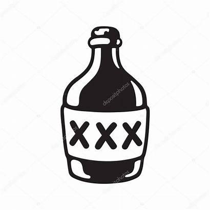 Jug Whiskey Clip Moonshine Xxx Cartoon Label