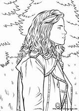 Potter Harry Coloring Printable Everfreecoloring Adults sketch template