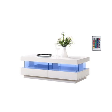tv stand cabinet with led lights high gloss floating wall amsterdam gloss coffee table with led lights home