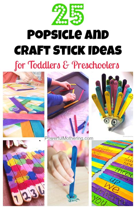 25 popsicle and craft stick ideas for toddlers and 462 | 25 Popsicle and Craft Stick Ideas for Toddlers and Preschoolers 2