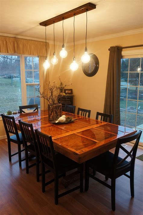 dining table distance light fixture dining table