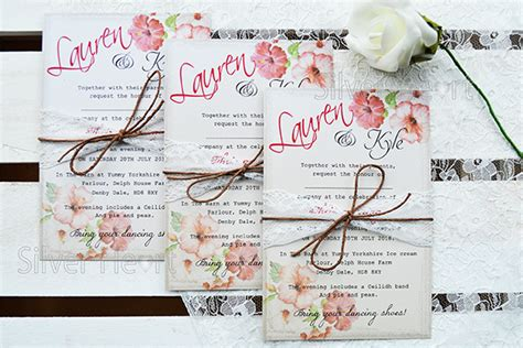 vintage hibiscus wedding stationery designs