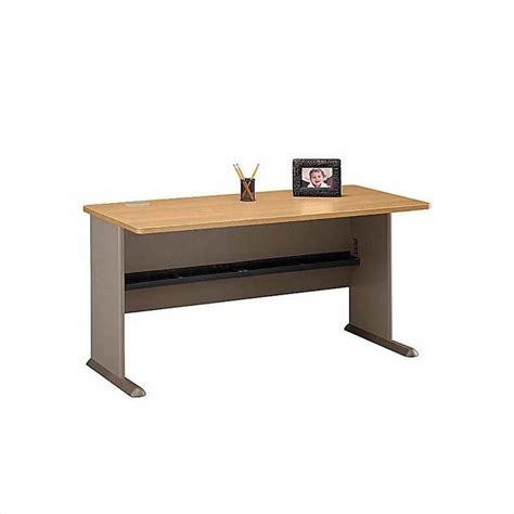 light wood corner desk bush business series a 6 piece wood corner desk in light