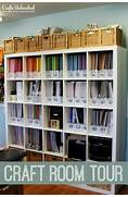 Craft Organization On Pinterest  Craft Rooms Scrapbook Rooms And Paper Storage