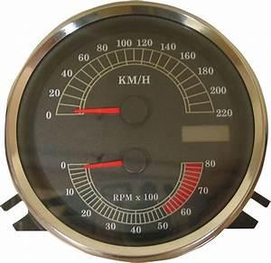 Drag Specialties Electronic Km  H Speedo Tach Speedometer Tachometer 96