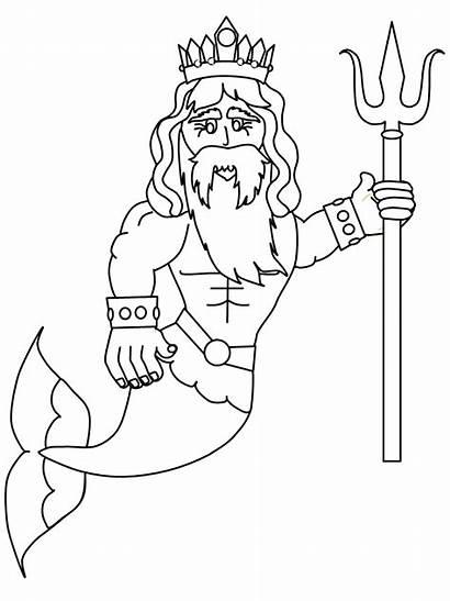 Merman Coloring Pages Mermaids Fantasy Mermaid Printable